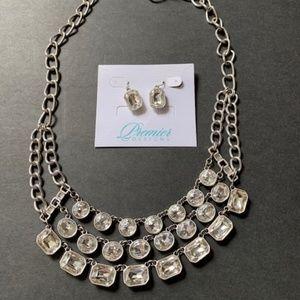 Premier Designs Show Time Necklace Set Earrings